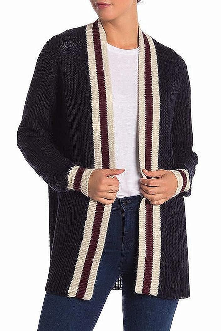 RDI Womens Medium Striped Open Cardigan Sweater