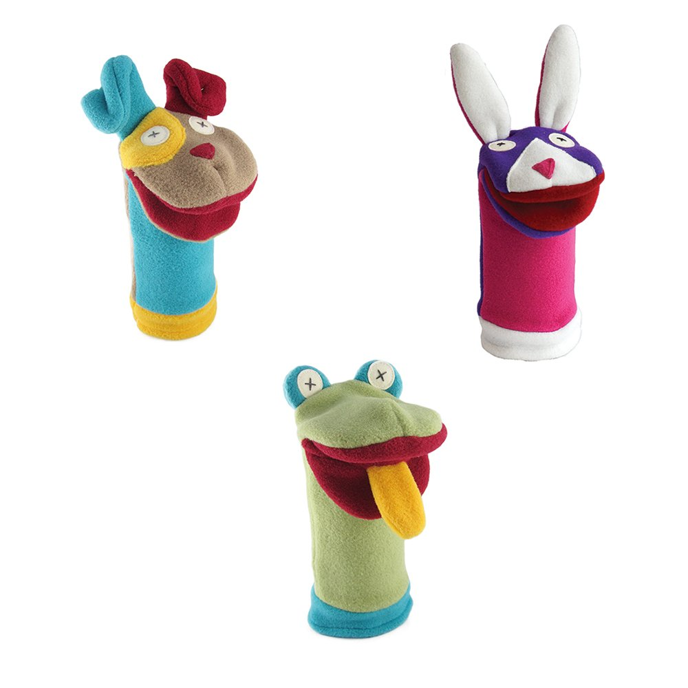 Cate and Levi Favorites Hand Puppets-Set of Three Includes Dog, Shark and Moose (100% USA Polar Fleece) 700645320708
