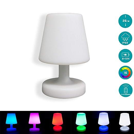 Mervy Petite Lampe De Table Led 25cm Sans Fil Rechargeable