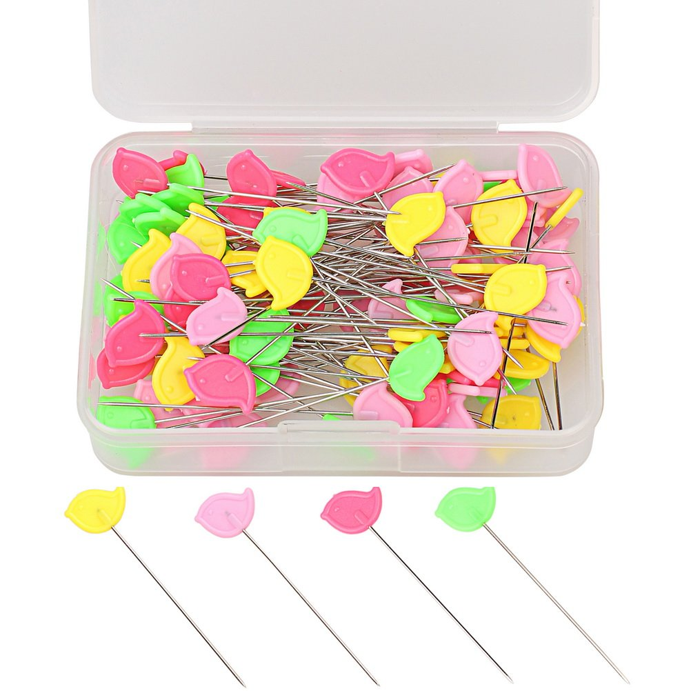 Color Scissor 100 Pieces Flat Head Straight Pins, Sewing Pins Quilting Pins for Sewing DIY Projects Dressmaker Jewelry Decoration, Assorted Colors