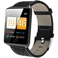 OPTA-SB-065-AMBER Heart Rate Monitor HD Display Bluetooth Unisex Fitness Smartband for Android and iOS Smartphones