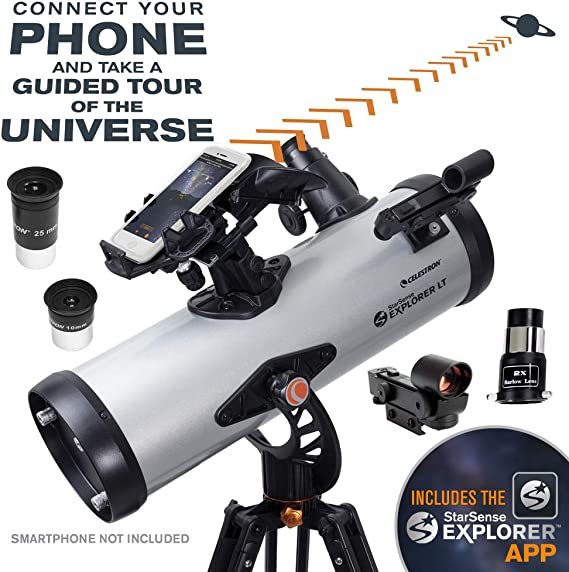 Celestron – StarSense Explorer LT 114AZ Smartphone App-Enabled Telescope – Works with StarSense App to Help You Find Stars