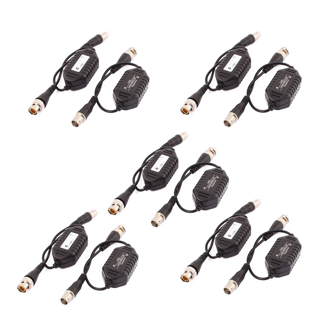 uxcell 10 Pcs Coaxial Video Ground Loop Isolator Balun BNC Male to Female for CCTV Camera by uxcell