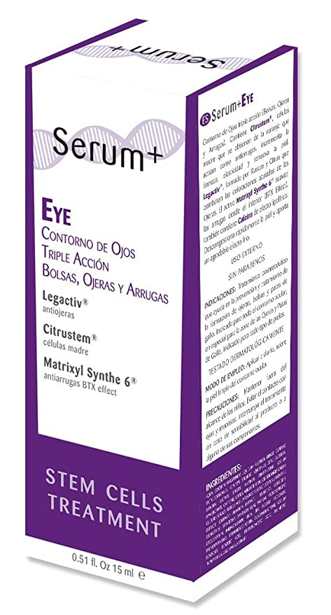 Serum+ EYE Contorno de Ojos Triple Acción: Bolsas Ojeras y ...