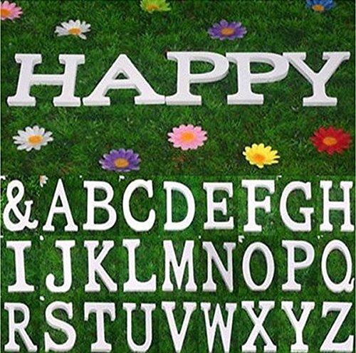 Gespout Letras Madera Bodas Fiesta Casa Ornamentos Letras Pared Bar Hotel Decoraci/ón Alfabeto Cartas Fotos Adornos Letra C 1pcs Blanco 8 6.5cm