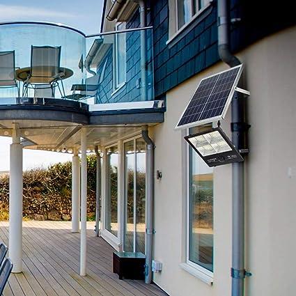 FNHGNG Luz Solar LED Exterior, Foco Solar LED Luz con cámara WiFi 1080P Luces de Seguridad el Atardecer hasta el Amanecer, IP67 Impermeable, con Placa Solar Jardín Patio Terraza Camping,200W: Amazon.es: Hogar