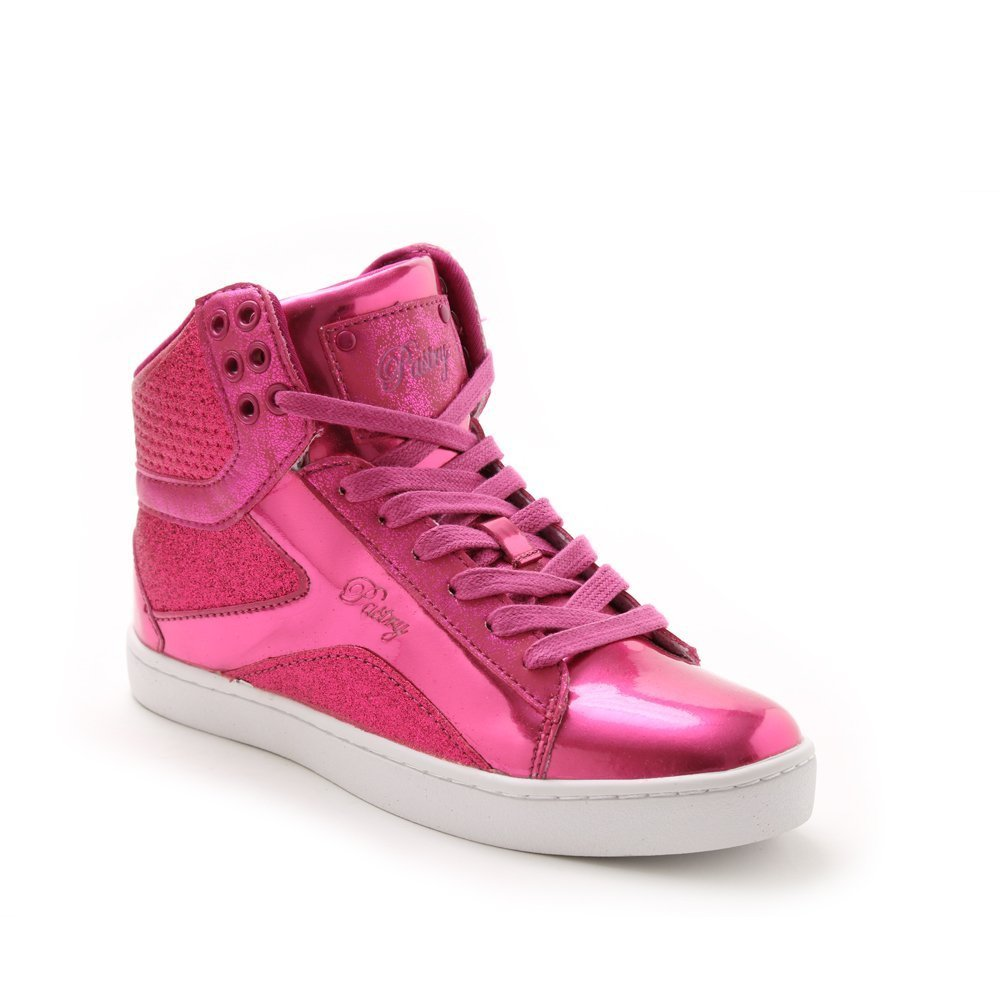 Pastry Pop Tart Glitter High-Top Sneaker & Dance Shoe for Women B012BU1LGS Size 7|Fuchsia