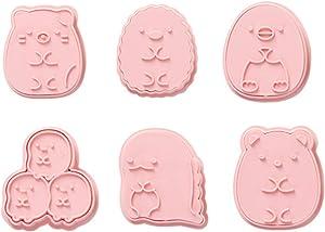 Cookie Cutter Set,6pcs Kids Cake Decoration 3D Mini Cartoon Animal Baking Tool Cookie Cutter Set