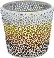 Sunset Mosaic Glass Votive Holder