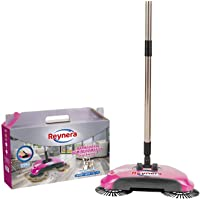 Escoba Barredora Mágica Manual Reynera - Sin cables, limpio por más tiempo, atrapa basura y pelos.