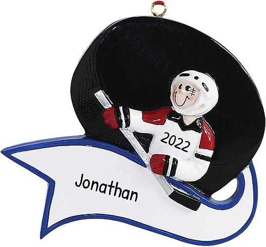 2020  Sports Jerseys Christmas Ornaments Amazon.com: Personalized Hockey Puck Christmas Tree Ornament 2020