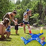 Inflatable Ring Toss Pool Game Toys with 4 Pcs