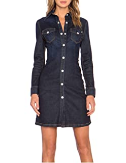 6b8d32f02dd Wrangler Women s Long-Sleeve Denim Shirtdress at Amazon Women s ...