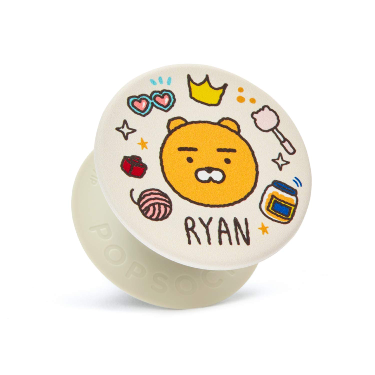 KAKAO FRIENDS Official- Collapsible Grip Stand for Phones and Tablets (Icon Type Ryan) by KAKAO FRIENDS