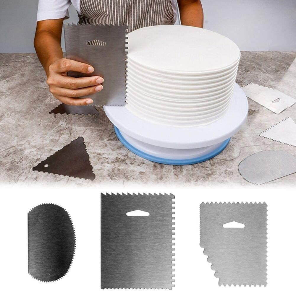 Cake Smoother Scraper Decorating Edge DIY Tool Prevently New Buttercream Smoother Comb Set Icing Polisher Plastic Cake Edge Cake Dough Scraper Cutters