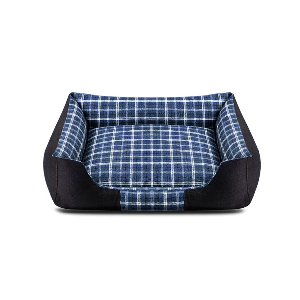 bluee 5545cm bluee 5545cm TangMengYun Dogs and Cats Washable Pet Beds Beds Upholstered Bed Comfortable bluee Summer (color   bluee, Size   55  45cm)