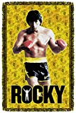 Rocky III Sports Boxing Movie Stallion Stance Woven Throw Blanket