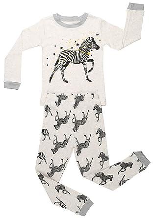 c1605b22bf Amazon.com  Elowel Little Boys Zibra 2 Piece Pajama Set 100% Cotton ...