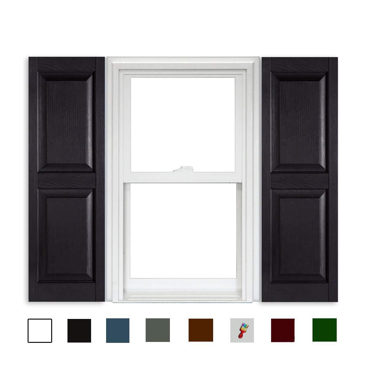 001 White Polaris Shutters Raised Panel 15 x 35