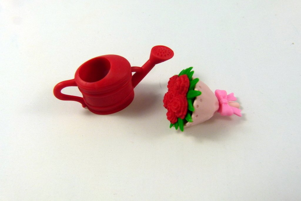 Iwako Red Flower Bouquents and Red Watering Can Japanese Erasers from Japan by Iwako (Image #1)