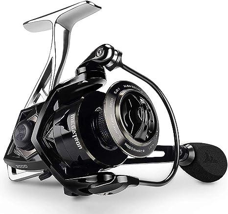 WMC Carrete de Pesca de Spinning de Arrastre de Carbono MAX Drag ...