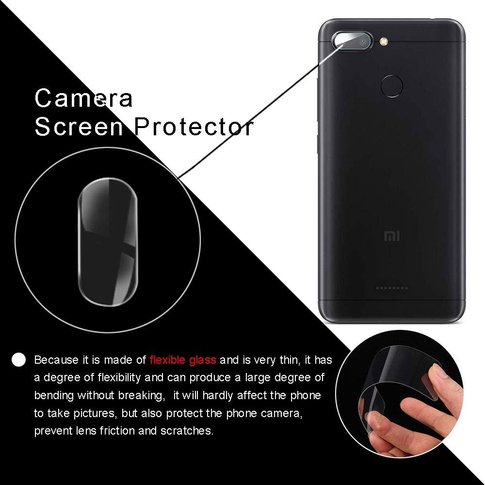 3-Pack YuhooTech Camera Lens Protector per Xiaomi Redmi Note 7 Fotocamera Protettiva Tempered Glass Anti-Scratch Clear Ultra Sottile Film Vetro Temperato