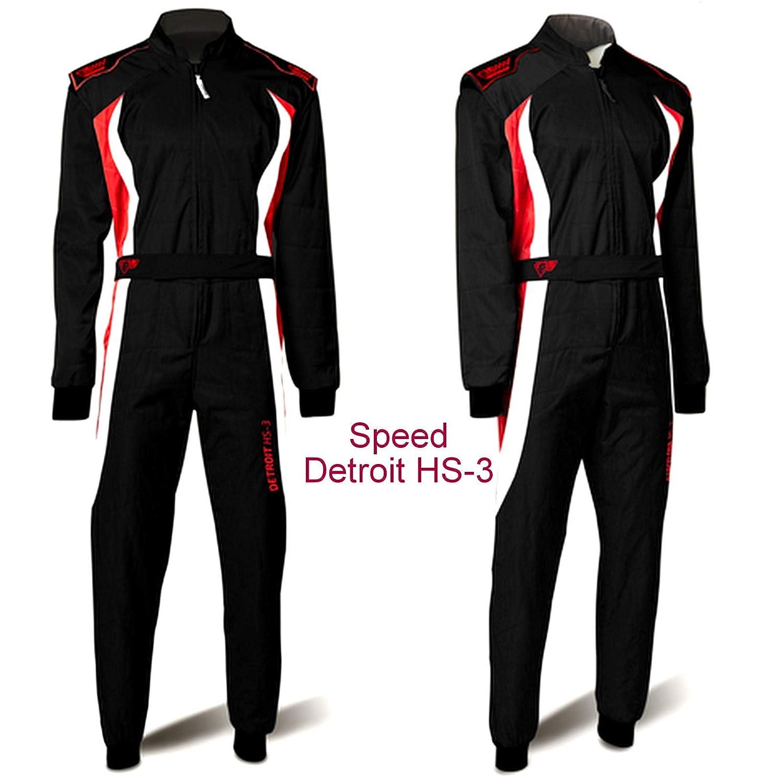 Noir Rouge Blanc XL SPEED Combinaison 3 Couleurs Detroit HS-3