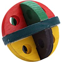 Bird Chewing Toys Bird Bite Rope Cage Toys for Small to Large Bird Round Wooden Teeth Clean Strips Stand Swing