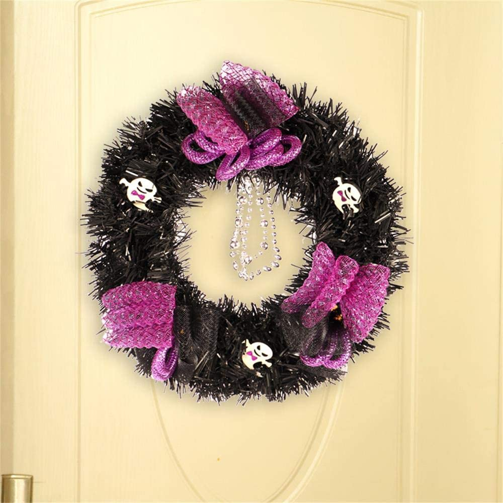 Amazon Com Halloween Wreath Decorations Black Mesh Ghosts Pendant