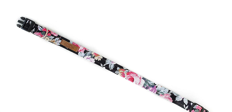 Flower Girl Dog Collar with Plastic Buckle : Small Large /& X-Large Sizes Floral Designer Pet Collar Medium Romantic Dog Collar