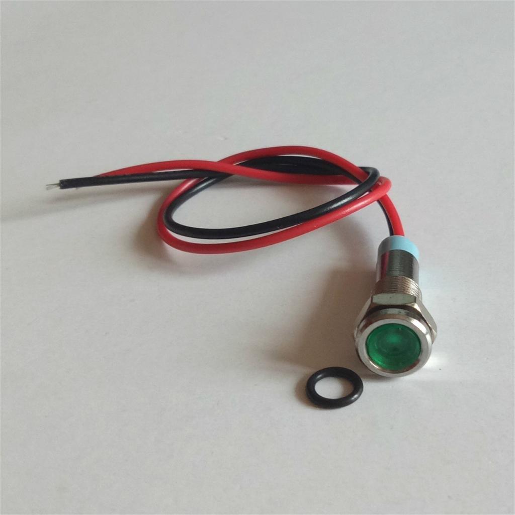 Sharplace 220v 6mm Indicateur Lumi/ère Dash Lampe Motorccyle Voiture Camion Bateau M/étal blanc