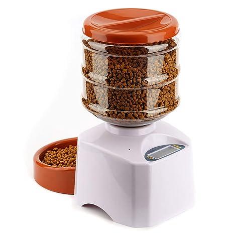 Alimentador de mascotas automático para perros Dispensador de alimentador de animales Gatos 5,5 litros