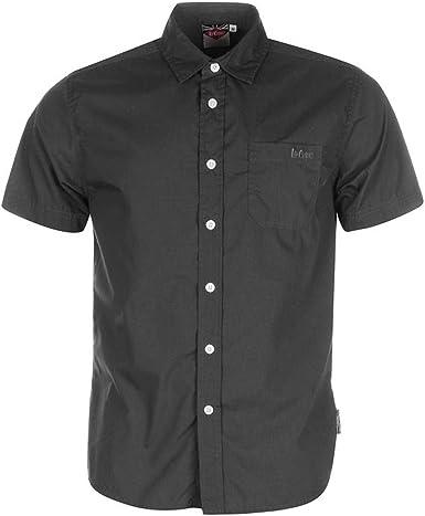 Lee Cooper - Camisa de manga corta para hombre gris oscuro L: Amazon.es: Ropa y accesorios