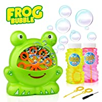 Deals on Baztoy Frog Bubble Machine with 2 Bubbles Solution