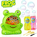 Baztoy Frog Bubble Machine with 2 Bubbles Solution