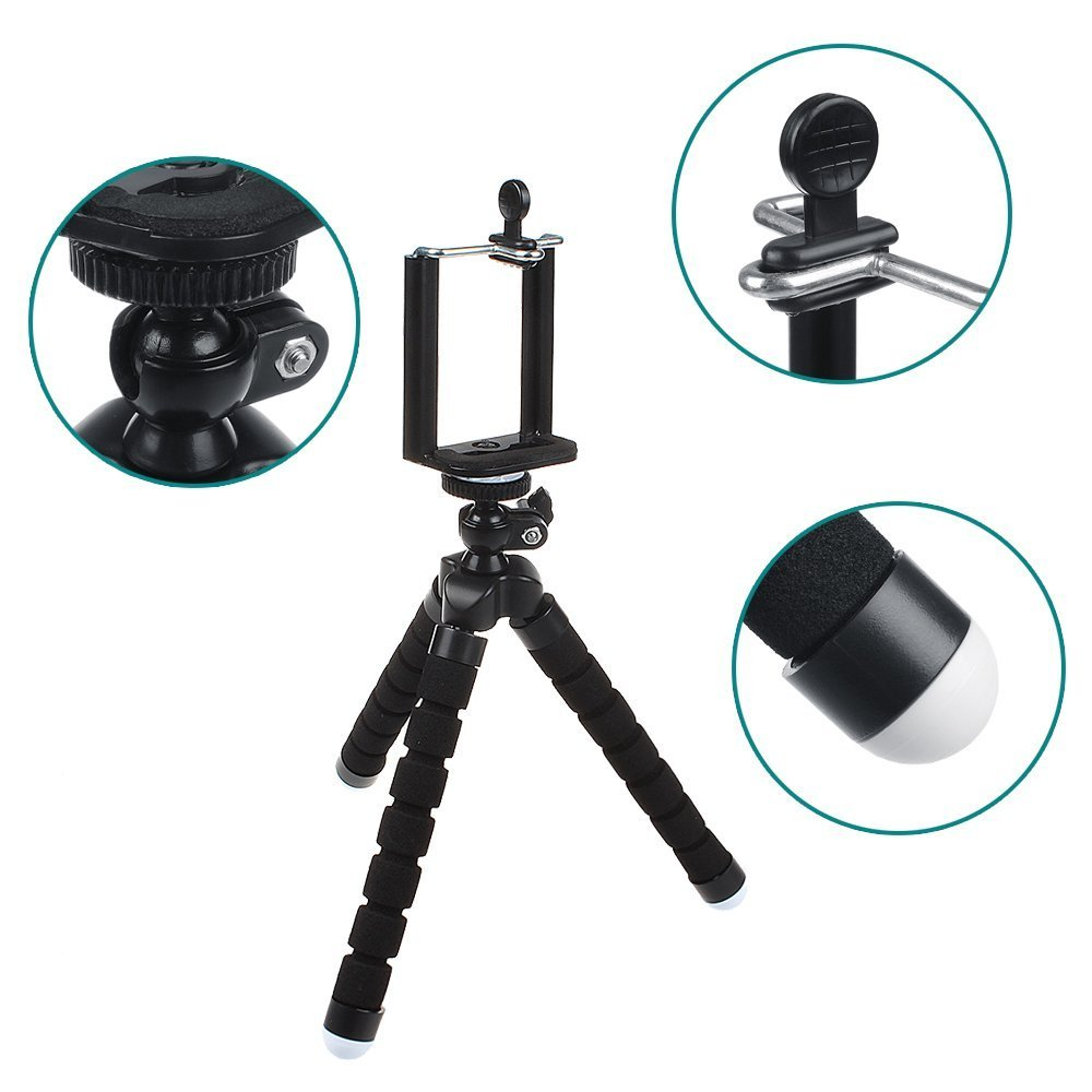 Mini Flexible Sponge Octopus Stand Tripod Mount For Gorilla Gorillapod Putih Holder U Free Waterproof Universal Iphone Samsung Camera Video Phone Black Cell Phones Accessories