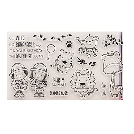 Silicone Rubber Clear Stamp Cling Seal Scrapbooking Diary Card DIY Decor Craft