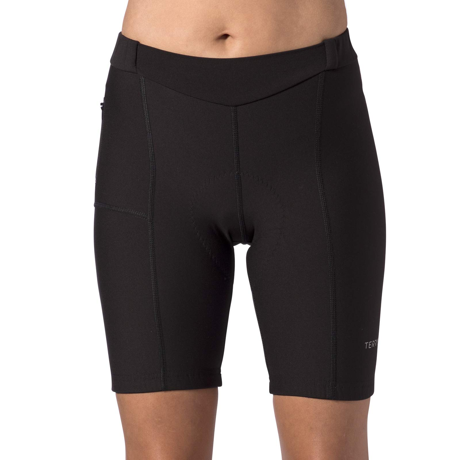 Terry Women's Touring Cycling Shorts/Regular - Best Padded Compression Multi-Day, Moisture-Wicking Cycling Shorts for Touring - Black - Large