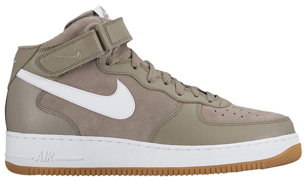 [ナイキ] Nike Air Force 1 Mid - メンズ バスケット [並行輸入品] B071X474NH US11.0 Light Taupe/White/Gum Light Brown