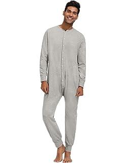 IST Mens Essential Cotton Long Underwear Union Suit Onesie Underwear X 2