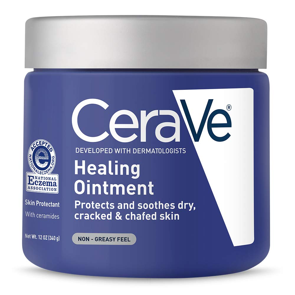 CeraVe Healing Ointment | 12 Ounce | Cracked Skin Repair Skin Protectant with Petrolatum Ceramides | Packaging May Vary