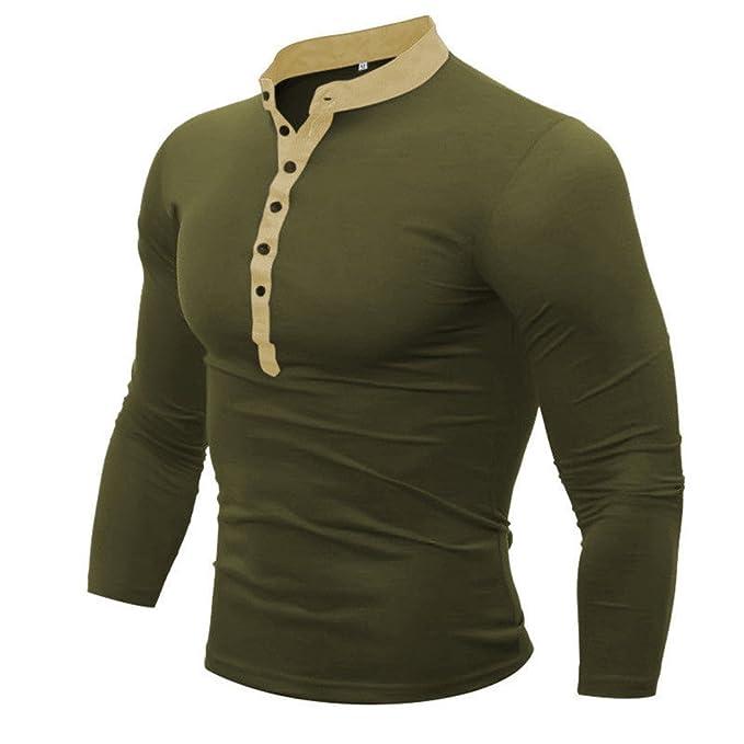 mioim Herren Langarmshirt Slim Fit Knopfleiste Poloshirt mit Stehkragen  Freizeit Sport Shirt Sweatshirt: Amazon.de: Bekleidung