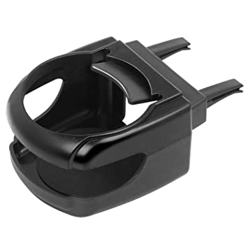 Amazon.es: TRIXES Portavasos Universal con Montaje en Ventilador Horizontal - Clip en Portavasos para Automóvil - Plástico - Negro