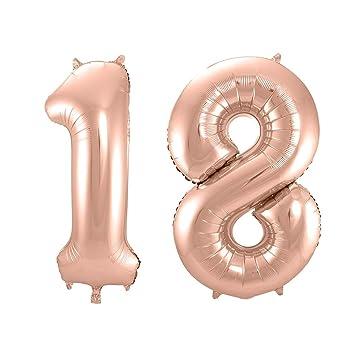 QSUM Globos 18 Años, 40 Pulgadas Globo del Cumpleaños Número ...