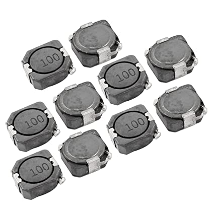 uxcell® 10 Pieces 4 4A 30% SMD Inductors CDRH Series 104R 10uH