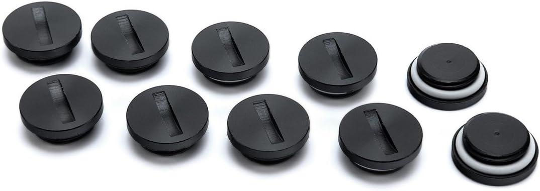"EKWB EK-Plug G1/4"" Acetal, Black, 10-Pack"