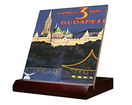 Come Budapest Old Travel Poster Ceramic Tile Stand X - Ceramic photo tiles headstone