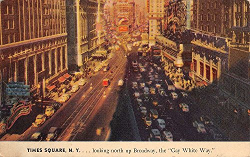 New York City Times Square Broadway Street Scene Vintage Postcard - Time Square New York In Stores