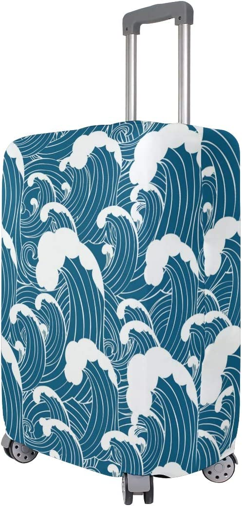 GIOVANIOR Abstract Sea Wave Luggage Cover Suitcase Protector Carry On Covers