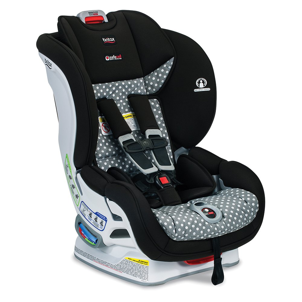 Britax Marathon ClickTight Convertible Car Seat - 1 Layer Impact Protection - Rear & Forward Facing - 5 to 65 pounds, Ollie